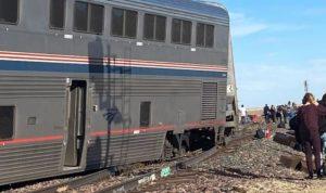 خروج قطار عن مساره في مونتانا الأميركية (صور)