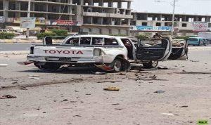 إصابة مواطن بلغم حوثي وتدمير سيارته غرب اليمن