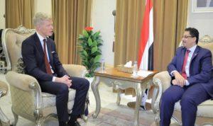 المبعوث الأممي: أسعى لدفع جهود تحقيق السلام في اليمن
