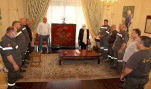 بهية الحريري: نقف الى جانب متطوعي الدفاع المدني