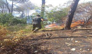 إخماد حريق في عيات