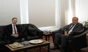 التعاون القضائي بين وزير العدل والسفير البريطاني