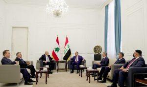 محادثات لبنانية-عراقية… ولجنة عليا مشتركة لبحث ملفات التعاون