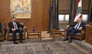بري عرض الأوضاع العامة مع السفير العراقي والسفيرة الفرنسية