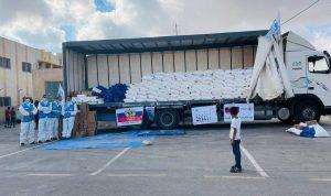 روسيا ترسل مساعدات غذائية إلى الضفة الغربية