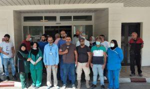 موظفو مستشفى صيدا الحكومي: مستمرون بتحركنا