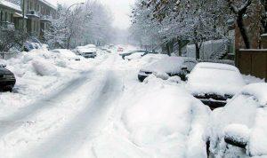 الثلوج قطعت طريق الضنية الهرمل