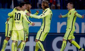 برشلونة يؤكّد تفوّقه على أتليتكو مدريد ويتأهل لنصف النهائي