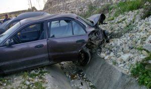 إصابة شخصين في حادث سير على أوتوستراد الزهراني