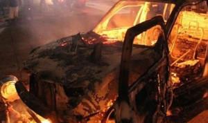 اصابة طفل سوري باحتراق سيارة في عنجر