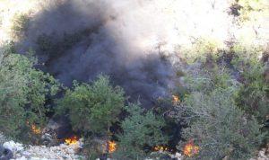 اندلاع حريق في حرج دير مارسركيس في بينو