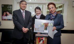 """بالصور.. جولة للسفير الياباني على """"مؤسّسة رينه معوّض"""" في زغرتا"""