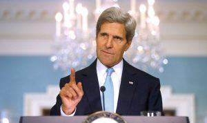 """كيري: وقف إطلاق النار في غزة يجب أن يؤدي إلى نزع سلاح """"حماس"""""""