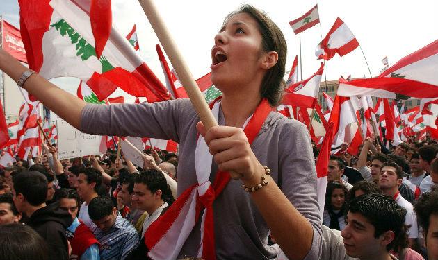 march 14 lebanon flag