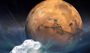 بالصور.. المريخ ينجو بعد مرور مذنب بالقرب من سطحه