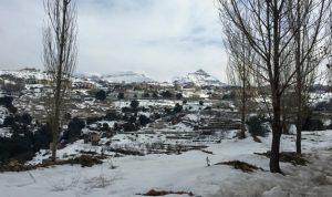YOHAN يصل مساء الى لبنان والثلوج على 1400 متر